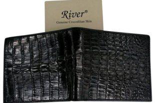 Genuine Black Crocodile Skin Walle