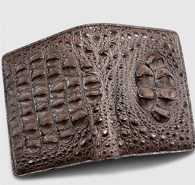 Fashion Bifold Genuine Crocodile Wallet for M