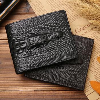 2017 Design Men's Wallet Genuine Leather Crocodile Purse Leather .