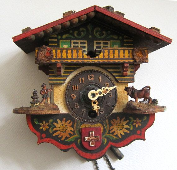 Very old vintage swiss cuckoo clock. What I wouldn't give for one .
