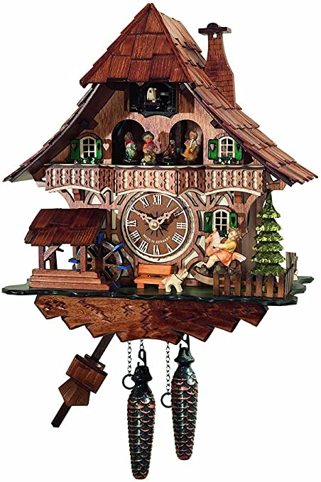 Amazon.com: Cuckoo Clock Quartz-movement Chalet-Style 32cm by .