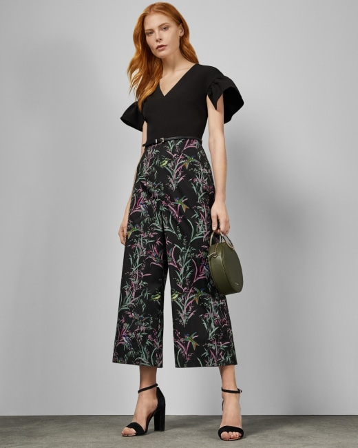 Fortune culotte jumpsuit - Black | Clothing | Ted Bak