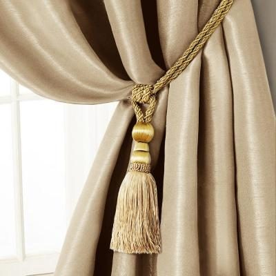 Elrene Amelia 24 in. Tassel Tieback Rope Cord Window Curtain .
