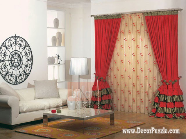 Curtain Designs For Drawing Room contemporary red curtain style .