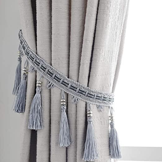 Amazon.com: HSYLYM Curtain Holdbacks Curtain Holders Polyester .