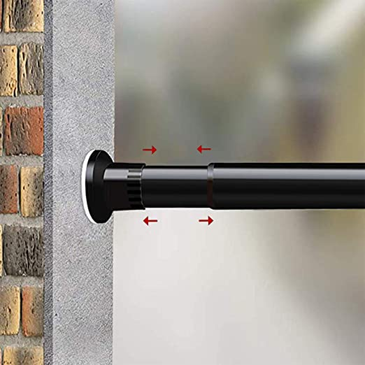 Amazon.com: MELCHEF Room Divider Tension Curtain Rod, 42.5-83 .