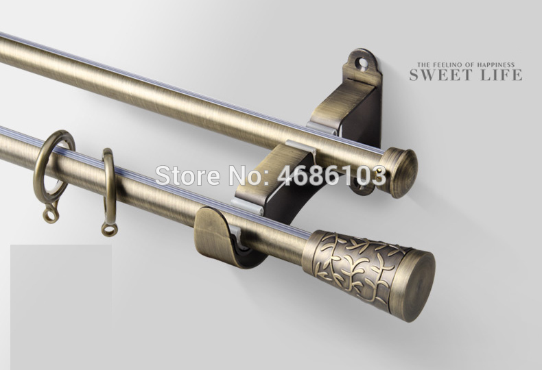 High Quality Stainless steel curtain rod Diameter 19mm double .
