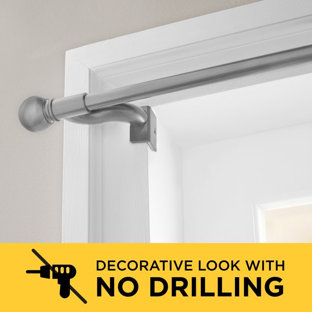 Smart Rods Twist and Shout No Drill Adjustable Window Curtain .