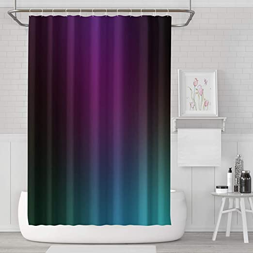 Amazon.com: Asoco Shower Curtain Set with 12 Hooks Purple with .