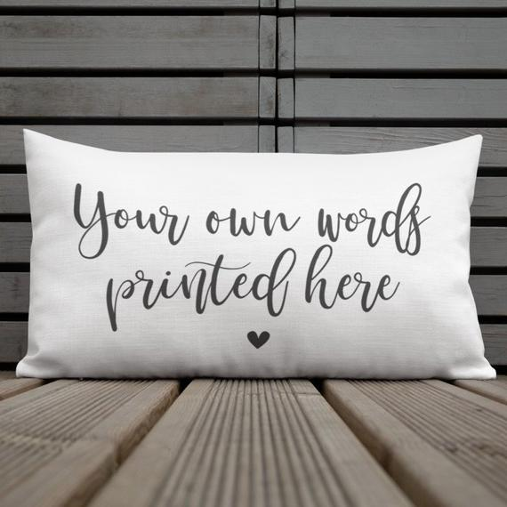 Personalized pillow Custom pillow Custom quote pillow | Et