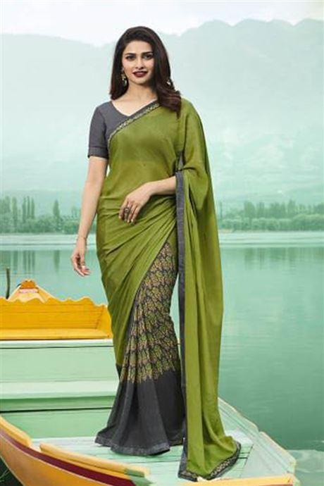 Printed Daily Wear Bollywood Georgette Sarees Catalogue .