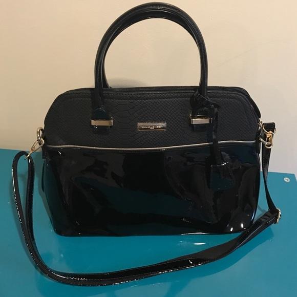 David Jones Bags | Black Patent Leather Purse | Poshma