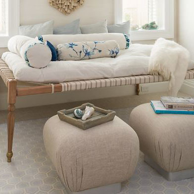 Indian Daybed with Cotton Velvet Mattress - Sea Green Designs L