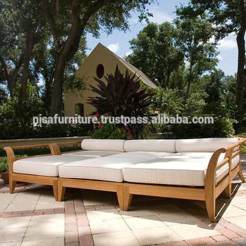 Teak wood Outdoor garden sets Daybed furniture Sofa set daybed .