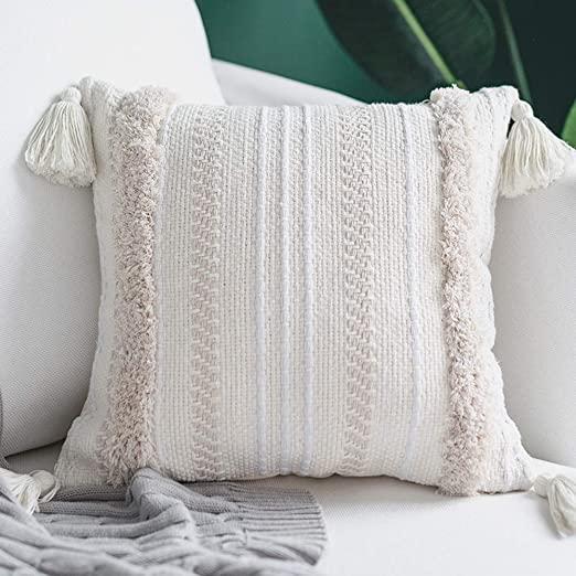 Amazon.com: blue page Boho Neutral Decorative Pillows Cover .