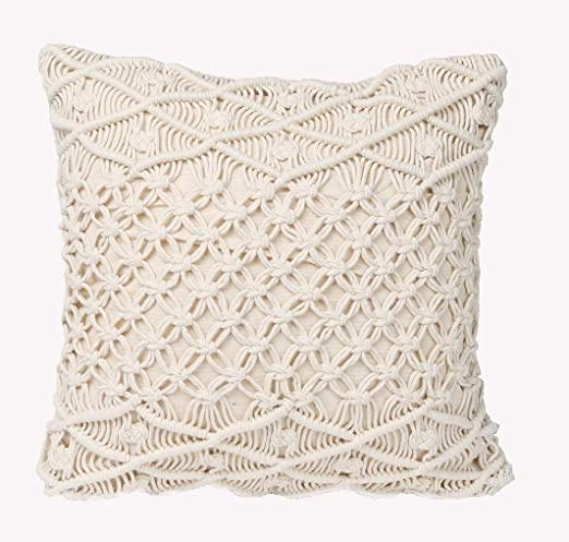 Amazon.com: Boho Decorative Pillows Macrame Throw Pillows Handmade .