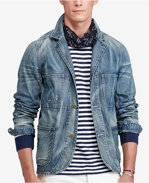 Polo Ralph Lauren Men's Denim Blazer & Reviews - Blazers & Sport .