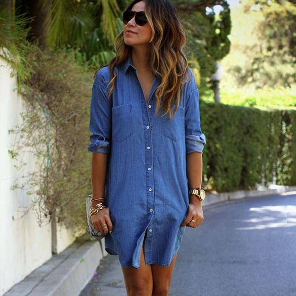 Rosa - Casual Denim Dress – Fr