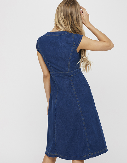 Isla Denim Dress | Blue | UK 8 / US 4 / EU 36 | 6499723908 | Monso