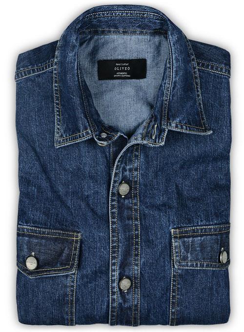 Custom Denim Shirt - 7oz : MakeYourOwnJeans®: Made To Measure .