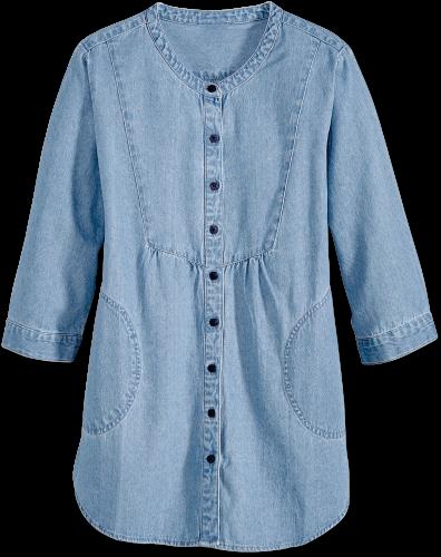Cotton Denim Tunic Top - Lightweight Jack
