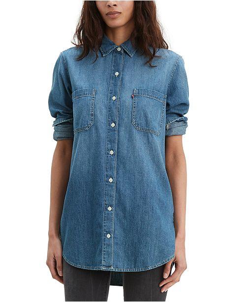 Levi's Women's Leni Denim Tunic Shirt & Reviews - Women - Macy