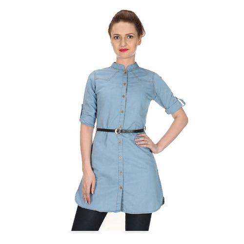 Ladies Blue Denim Tunic, Size: S-XL, Rs 680 /piece G.S.A. .