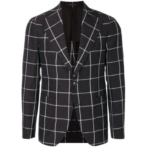 Tagliatore checked button jacket Men's Designer Blazers .