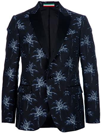 MOSCHINO Limited Edition Men's Designer Blazer Sports Coat Palm .