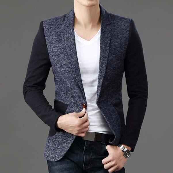 Men Blazer Autumn Winter designer blazers wool blend coat Casual .