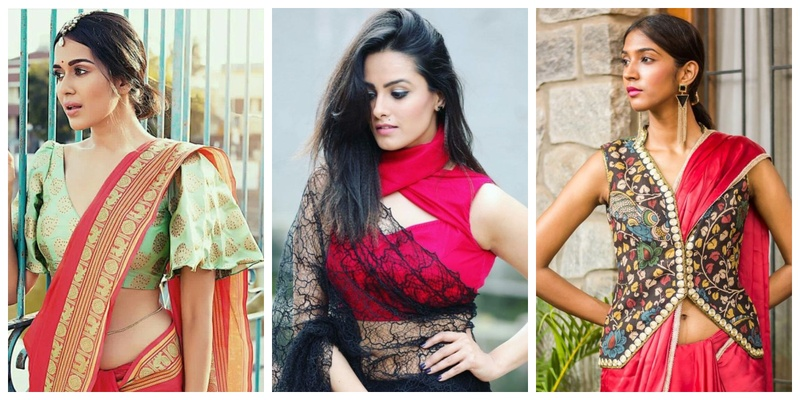 15 quirky blouse designs to wear with your designer saree at your .