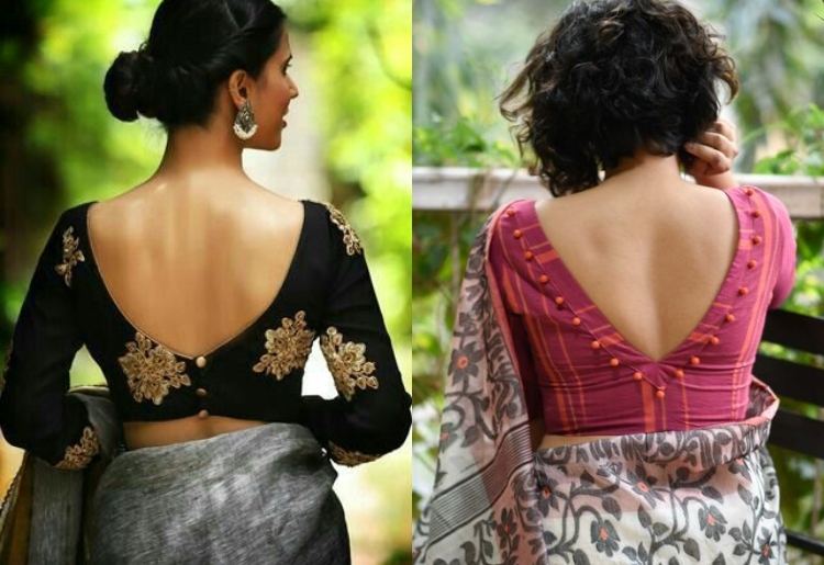 9 Designer Back Neck Blouse Designs for your Sarees and Leheng