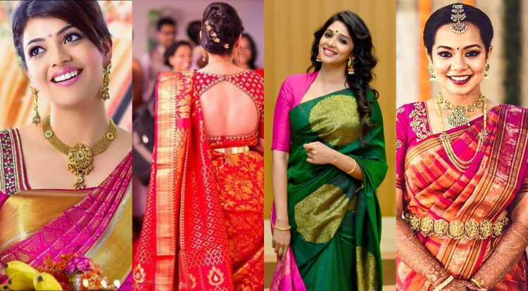 10+ Latest Pattu sarees Heavy blouse designs for 20