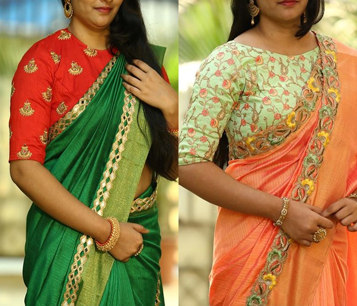 12 High Neck Blouse Designs You Should Consider For Silk Sarees .