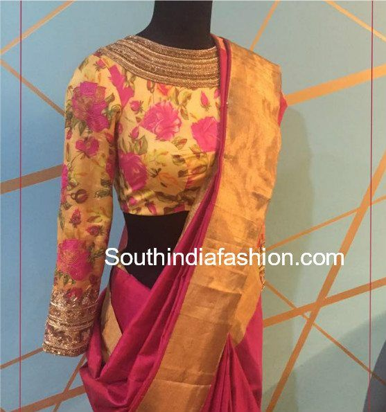 Top 20 Most Trending Blouse Designs For Silk Sarees | Silk saree .