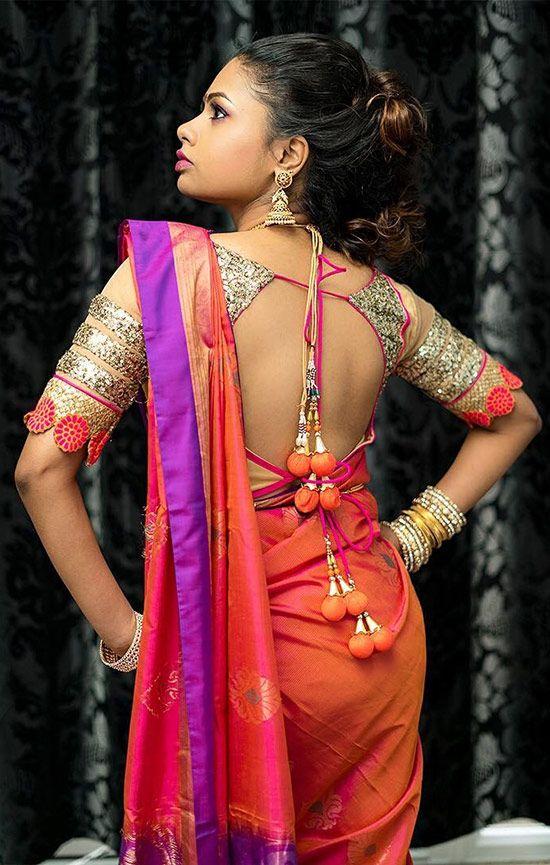 50 Trendy Silk Saree Blouse Designs Catalogue 2019 | Blouse .