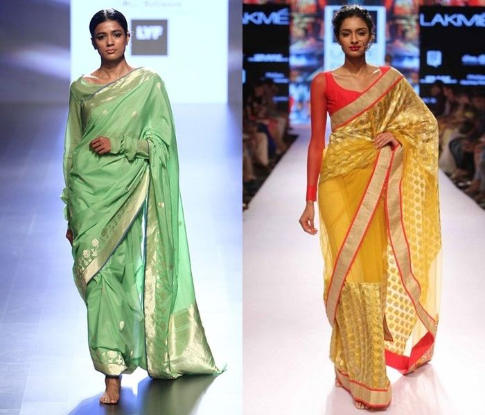11 Pretty Full Sleeve Blouse Designs for Silk Sarees (With images .