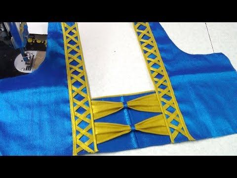 Easy and simple blouse back neck designing || Designer blouse .