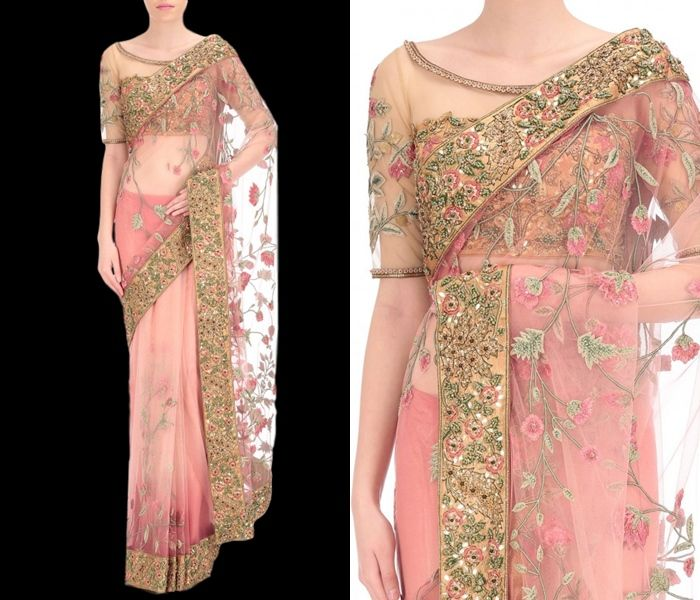 The Ultimate Latest Blouse Designs To Try With Net Sarees!   Net .