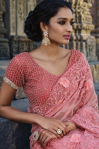 Top 15 Alluring Designs of Designer Blouses For Net Sare