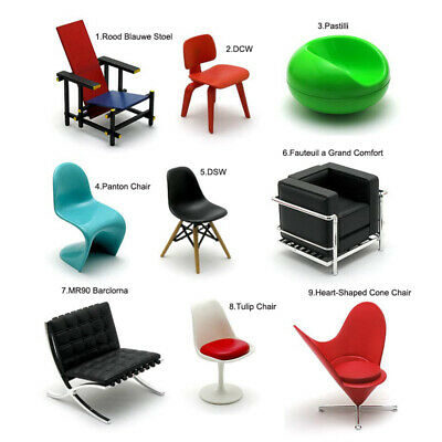 Rare Reac Japan Miniature 1/12 Scale Designer Chairs Vol.1(Each .