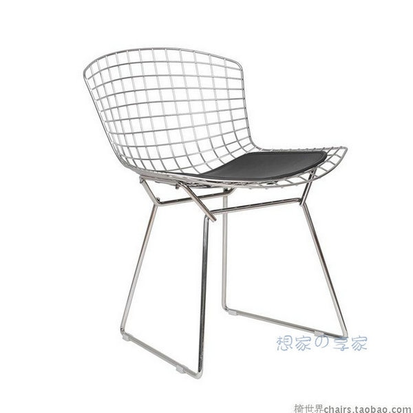 Eiffel plated metal chairs wire chair upscale fashion designer .