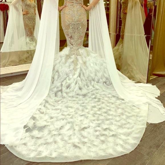 Vlora & Kaltrina Designer Dresses | White Designer Evening Gown .