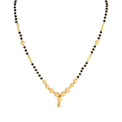 Buy BANDISH Gold Plated Traditional Kalash Designer Mangalsutra .