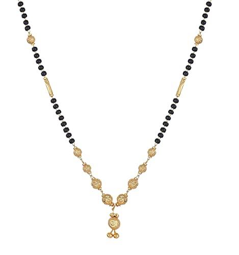 Buy Zeneme Women's Pride Designer Gold Plated Mangalsutra Pendant .