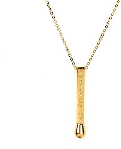 Amazon.com: United Elegance Sleek Gold Tone Designer Bar Necklace .
