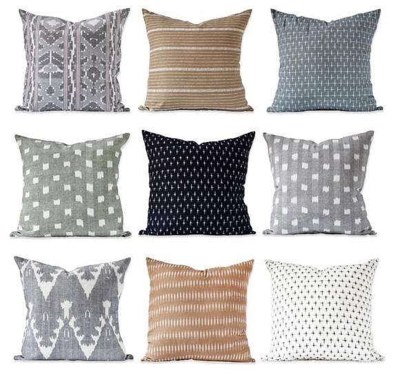 Kufri Karuso Designer Pillows in Mineral // Decorative Throw .