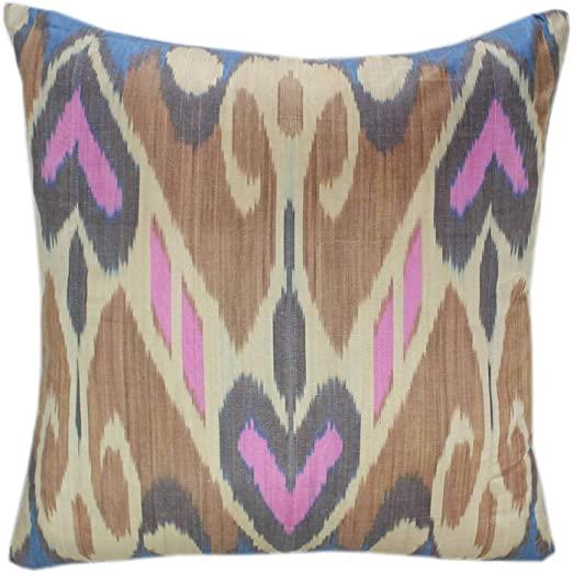 Amazon.com: Handmade Ikat Pillow, Ikat Throw Pillows, Designer .