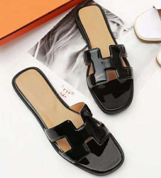 Size 35 41 Women Designer Sandals Luxury Slide Leather Designer .