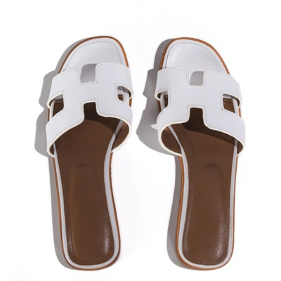 Summer black or white ladies h sandals ladies luxury designer .